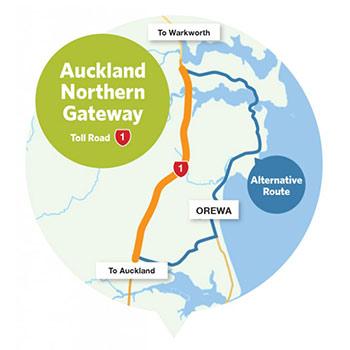 Northern Gateway Mautsrasse in Neuseeland