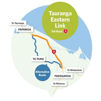 Tauranga Eastern Link Mautstrasse in Neuseeland